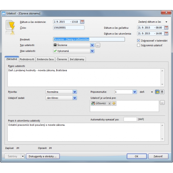 Oberon - CRM a registratúra (mini licencia)