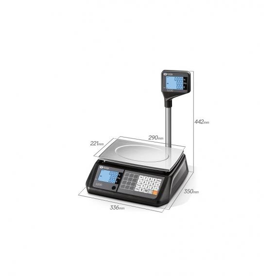Obchodná váha S200 L 3/6KG